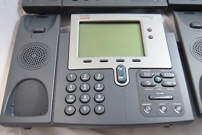 Lot of (3) Cisco CP-7941G v02 7941 IP VoIP Phone No Handset.*Free S/H.