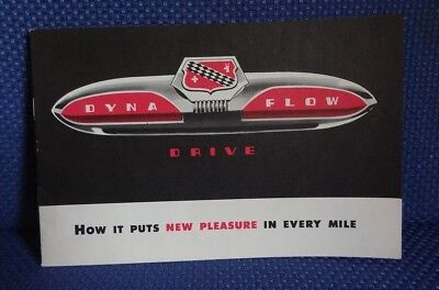 1952 BUICK Dyna Flow Transmission Sales Brochure - Original New Old Stock