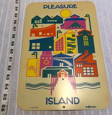 1989 Mannequins Dance Palace Night Club Walt Disney World Pleasure Island Sign