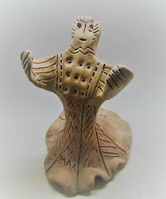 Rare Ancient Near Eastern Terracotta Diety/worshipper. 2000-1500Bc