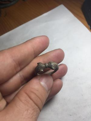 Silver ring Celtic two dolphins