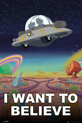 Rick and Morty I Want to Believe Sanchez Maxi Poster Print 61x91.5cm | 24x36 in