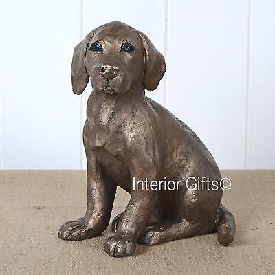 Frith Pups Walter Cold Cast Bronzed Dog Sculpture
