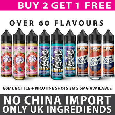 BUY 2 GET 1 FREE E LIQUID VAPE JUICE CHEAP 70VG/30PG 0,3,6mg FREE DELIVERY