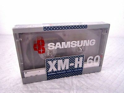 CASSETTE TAPE BLANK SEALED - 1 x (one) SAMSUNG XM-H 60 - made in Korea RARE