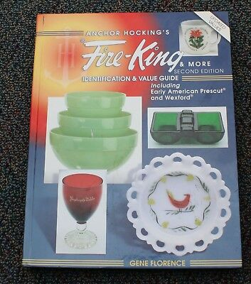 Anchor Hocking's Fire King Identification Price Guide book Glassware Dishes Etc.