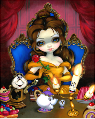 Disney✿Enchantment WonderGround Beauty and the Beast Belle+Maleficent 3D Magnet