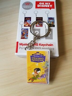 Oh My Disney Mystery VHS Keychain-The Hunchback Of Notre Dame-New