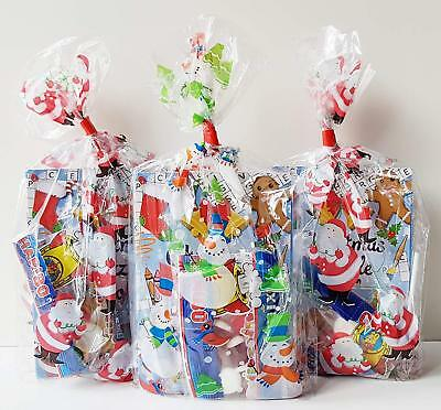 1 x CHRISTMAS PRE FILLED KIDS UNISEX PARTY LOOT BAGS FOR CHRISTMAS PARTIES