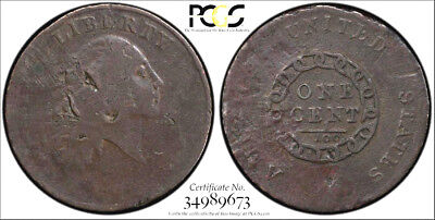 1793 CHAIN America * PCGS VG Detail SECURE * FLOWING HAIR LARGE Cent 1c Repaired