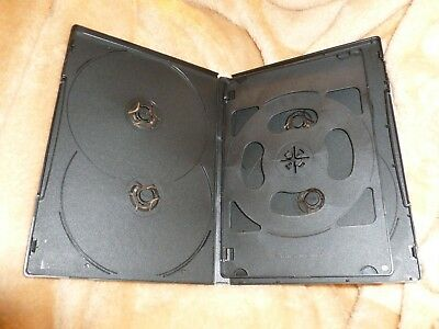 "5/8"" 14 mm BLACK Slim 6-DVD Case Movie Box Beautiful Quality HOLDS 6 DISCS QTY 1"