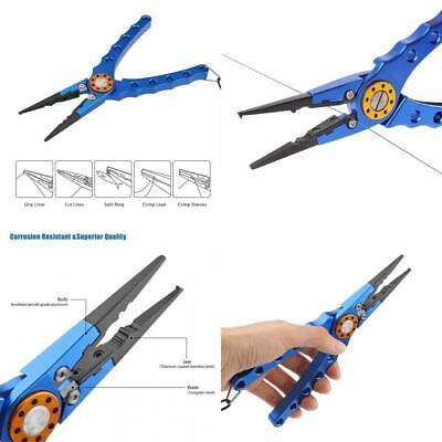 Aluminum Fishing Pliers for Cutting Braid Line and Remove Hooks or Lure with...