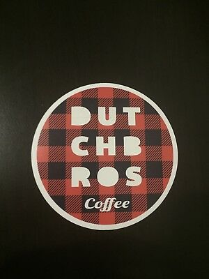 *RARE* Plaid Dutch Bros Sticker