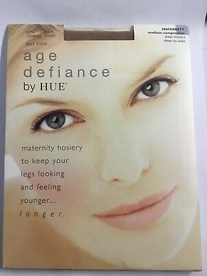Age Defiance HUE Maternity Brown Size B Medium Compression Sheer Pantyhose NEW