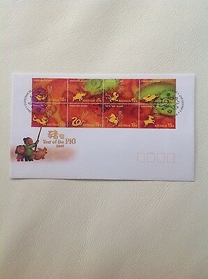 2007 - Christmas Island Year of the Pig FDC