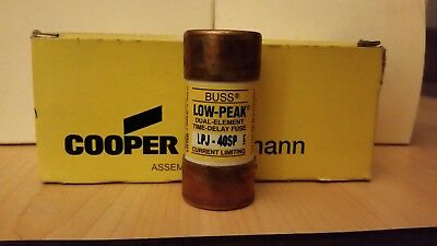 BUSSMANN LPJ-40SP Low-Peak Dual Element Time Delay Fuse 40 Amp 600 Vac  !NEW!