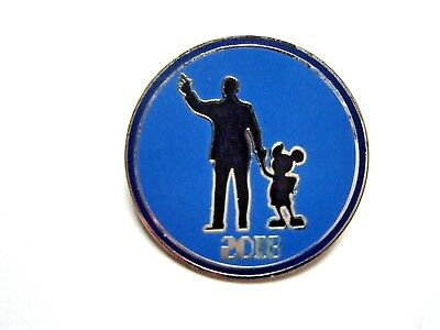 Disney Pin 2018 Dated Park Icons/Attractions Booster - Walt & Mickey [128441]