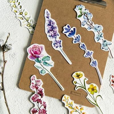 30 Pcs/box Plant Flower Paper Bookmark Page Holder Marker Message Card School CN