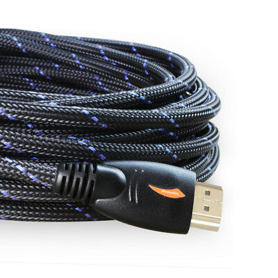 3-66FT Braided Ultra HD HDMI Cable 1080p 60Hz High Speed Ethernet HDTV 3D