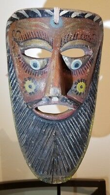 Fariseo Mask from Puebla or Veracruz Mexico Folk Art