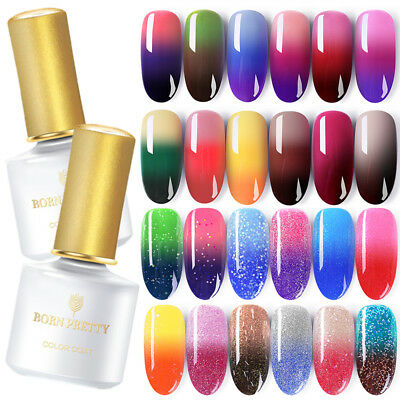 BORN PRETTY UV Gel Esmalte de Uñas Térmico Cambio de Color Nail Art Gel Polish