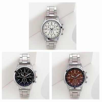 Steel Glass Mesh Automatic Mechanical Business Round Dial Watches for Men SS