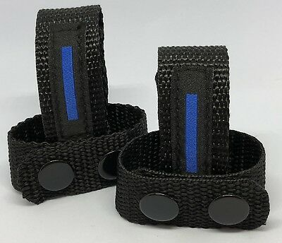 Belt Keepers, Only 1mm Thin, Duty Belt, Police, Thin Blue Line, Black, 4 x Item