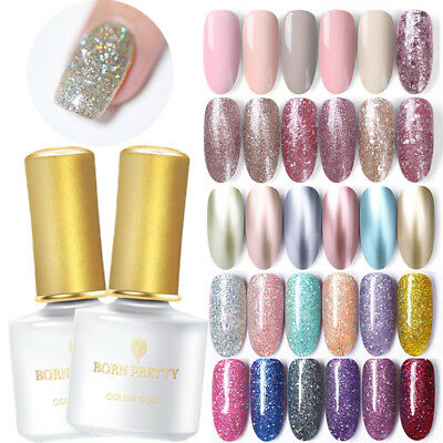 BORN PRETTY 6ml UV Gel Esmalte de Uñas Lentejuelas Purpurina Nail Art Gel Polish