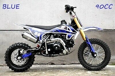 90cc Dirt Trail PIT Bike Motor 2 wheels Electric Start Semi Auto Junior Bike