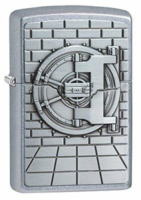Zippo Unisex's Safe with Cash Surprise Regular Windproof Lighter, Street Chrome,