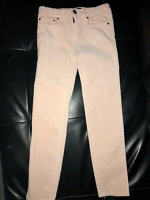 Bardot Junior Girls Pink Cord Jeans size 7 Gorgeous Like New