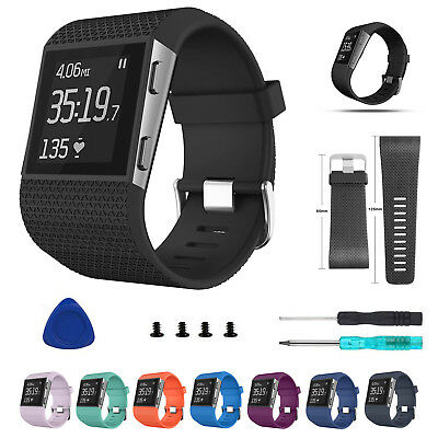 For Fitbit Surge Replacement  Band Silicone Strap Watch Band Buckle Tools UK