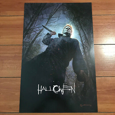 SDCC 2018 HALLOWEEN MOVIE POSTER BILL SIENKIEWIEWTCZ EXCLUSIVE Michael Myers