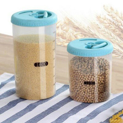 Plastic Kitchen Food Cereal Grain Bean Rice Storage Box Container Case Thick New