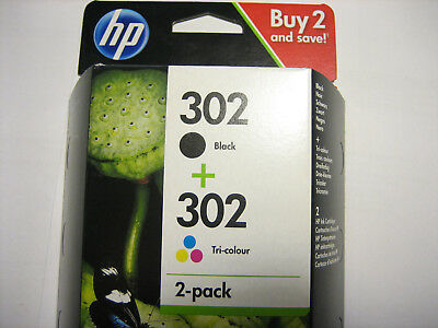HP ORIGINAL HP 302 Black + Color for DJ DESKJET 1110 2130 3630 3631 3632 3633 3