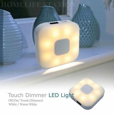 Touch Dimmer LED Night Light USB Rechargeable Memory Lighting Low Energy Lamp AU