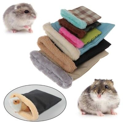 Plush Sleeping Bag Small Pet Hamster Chinchilla Bed House Winter Soft Warm House