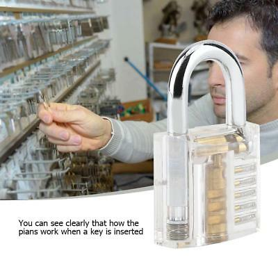 Transparent Padlock Lock For Locksmith Practice Training Skill Set Tool Metal