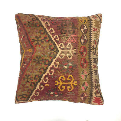 Vintage Kilim Cushion Cover Kelim Pillow 60x60cm Moroccan style 66164