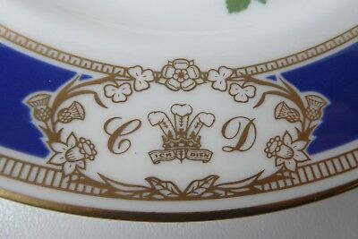 Royal Doulton Prince Charles & Princess Diana Royal Wedding Bouquet Plate Gilt