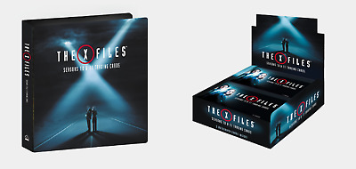 X-Files Seasons 10 & 11 Trading Cards Factory Sealed Box & Binder/Album + Promos
