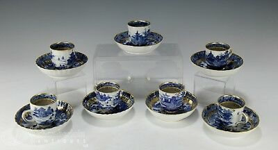 Lot Of Antique Chinese Gilt Accented Nanking Porcelain Cups + Saucer Plates