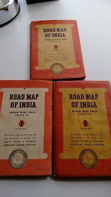 India Tyre & Rubber Company Pre-Partition Road Maps of India A-C