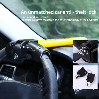Auto Car Anti-Theft Security Rotary Steering Wheel Lock Top Mount SUV Universal