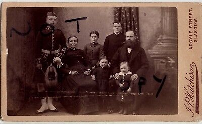 CDV Pte Black Watch wears full dress together with family Glasgow photographer
