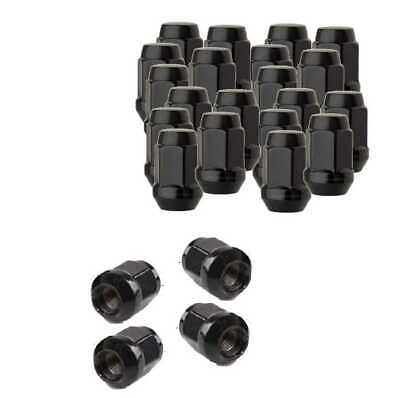 Set of 20 Black Conical Seat - 60 Deg length 1.38 in Thread 1/2-20 in