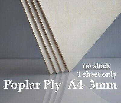 A4 3mm Birch Plywood Sheets - Laser Safe - Craft, Modelling, Pyrography
