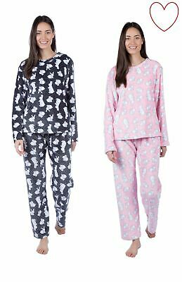 Ladies Girls Pyjama Set Rabbit Pajamas Pjs Nightwear Sleepwear Gift