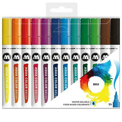 MOLOTOW - Aqua Color Brush Marker Basic Set 1
