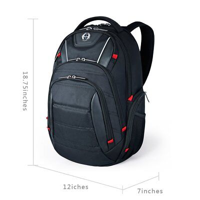 Laptop Backpack Busniess Travel Polyester Backpack with USB Charging Port